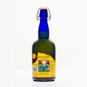 Bottle of Traditional mead with Barrel-Aged sticker